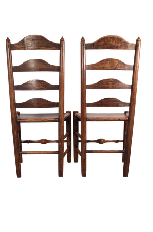 Pair of Welsh Elm Ladderback Chairs