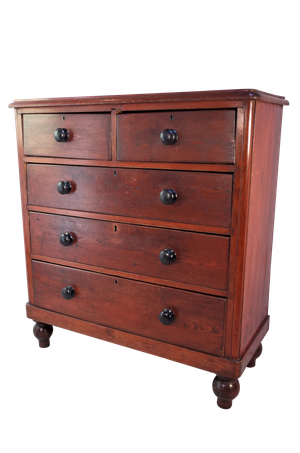 Victorian Chest of Two Over Three Drawers in Scumble Glaze