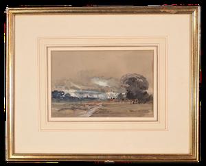 Framed Watercolour of Landscape, signed A J Meyer