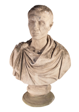 Weathered Bust of Caesar