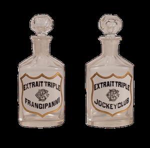 Pair of Edwardian Glass Pharmacy Cologne Bottles