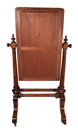 Mahogany Dwarf Cheval Dressing Mirror