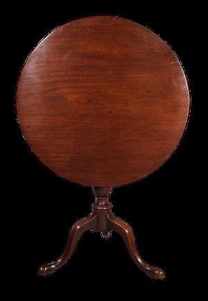 Mahogany Tilt Top Pedestal Table