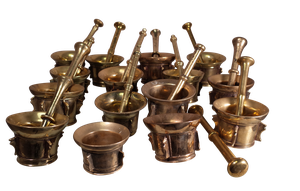 Collection of Brass Pestles and Mortars