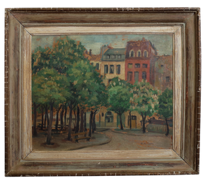 Oil on Board of Townscape