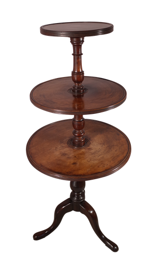 Mahogany Three Tiered Dumb Waiter