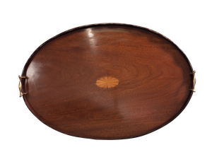 Edwardian Mahogany Galleried Tray
