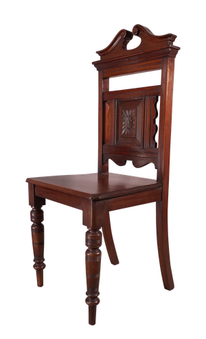 Edwardian Mahogany Hall Chair