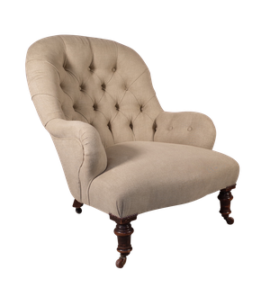 Victorian Buttoned Armchair