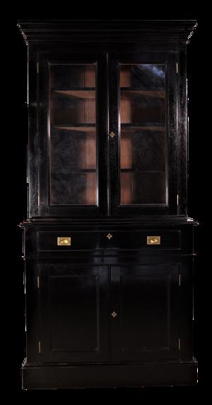 Ebonised Glazed Bookcase