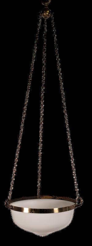 Edwardian Opaque Glass Plaffonier
