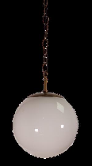 Opaque Glass Globe Pendant