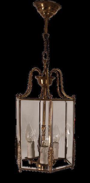 Starcut Glass Hexagonal Lantern