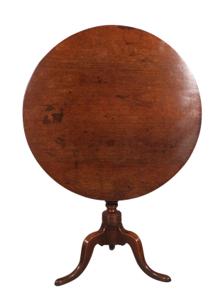 Oak Tilt Top Tripod Table