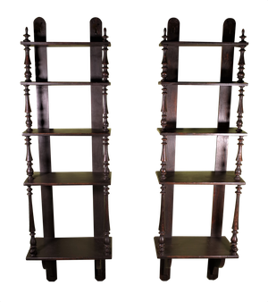Pair of Painted Pine Bistro Shelves