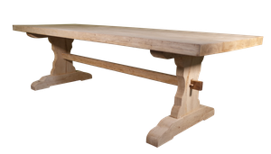 Bleached Fruitwood Refectory Table