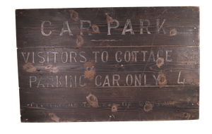 Hand Painted Parking Sign for the Cottage