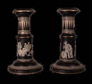 Rare Pair of Neo-Classical Design Candlesticks