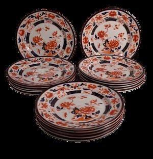 Sixteen Staffordshire Ironstone Plates