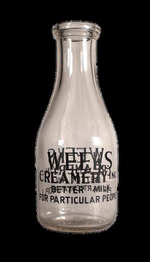 Edwardian Weeks Creamery Milk Bottle