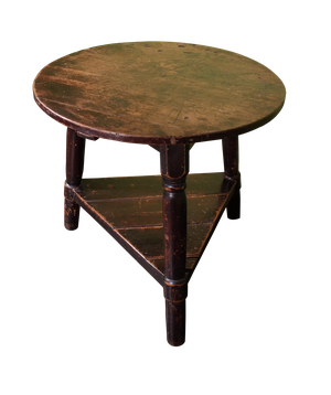 Cricket Table with Traces of Original Paint