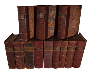 Twelve Leather Bound Justice of the Peace Notary Volumes
