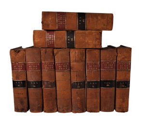 Ten Leather Bound Justice of the Peace Notary Volumes