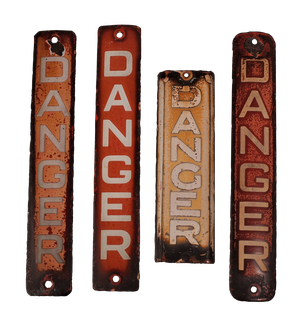 Enamelled Danger Signs