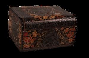 Lidded Kashmiri Lacquered Box