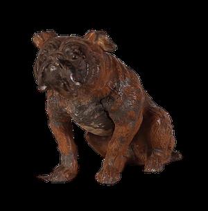 Victorian Cold Painted Metal Bulldog