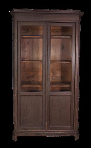 Glazed Pine Cupboard with Original Paint