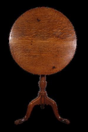 George III Oak Tilt Top Table on Tripod Base