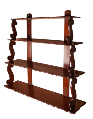 Four Tier Mahogany Waterfall Shelf