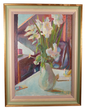 Oil on Board of Floral Still Life