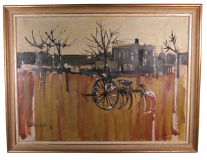 Oil on Canvas Entitled The Plough by Peter Shackleton