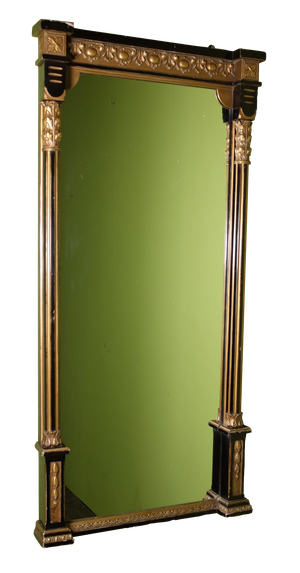 Ebonised and Gilt Pier Mirror