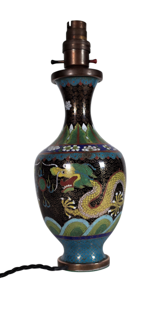 Cloisonne Lamp Base