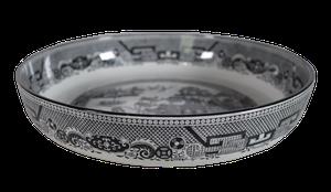 Minton Monochrome Willow Pattern Bowl
