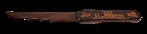 Yew and Mahogany Inlaid Paper Knife Inscribed Killarney 1882