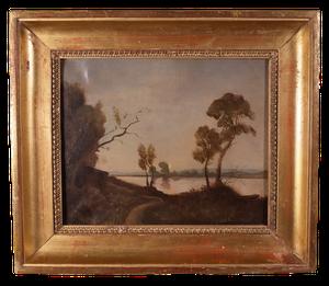 Oil on Canvas of Lake Scene