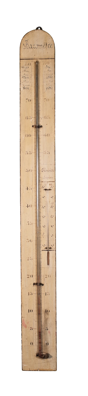 Painted Wooden Barometer