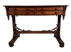 Oak Gothic Revival Writing Table