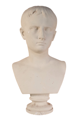 Plaster Classical Bust of Young Augustus Caesar