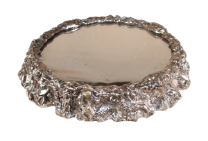 Silver Plated Naturalistic Mirrored Centre Piece by Elkington and Co