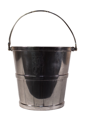 Small Plated Ice Bucket Engraved with the Initials FSB and dated 1887