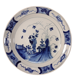 Delft Plate with Oriental Design