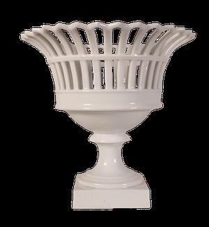 White Porcelain Lattice Ribbon Comport