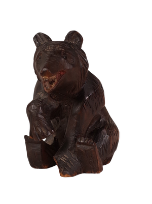 Small Black Forest Carved Bear