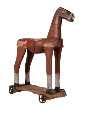 Toy Painted Wooden Horse
