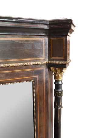 Pair of Ebonised and Inlaid Pier Cabinets